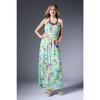 100% Polyester Long Print Maxi Dress wholesale bohemian dress