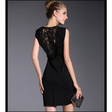 Dress oem service sleeveless sexy women dress with back lace tirm cheap price