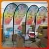 custom digital print feather bow beach flag banners