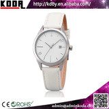 2015 koda watch new products white dial band leather ladies quartz day date watch