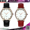 2015 Koda new product China supplier vogue genuine leather waterproof crystal diamond ladies men quartz watch