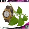 2015 Bewell new wood bamboo watch leather band quartz unisex watch