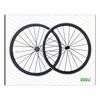 carbon aluminum wheels 700C 38mm Clincher Carbon Alloy Road Bike wheelsets 23mm Width