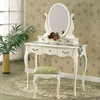 Makeup Mirror Table Vanity Set W/Stool
