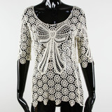 Embroidery French Ladies Top Fashion Blouse