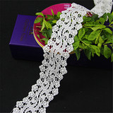 China supplier sale white polyester lace trim for dress