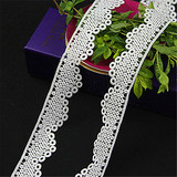chemical border cord lace trim fabric