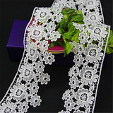 fancy flower embroidery decorative bridal lace trim