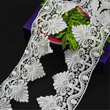 Fashion White Cheap Chemical Embroidery Lace Trim
