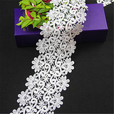 Double Sided Flower guipure Lace Trim for wedding dresses