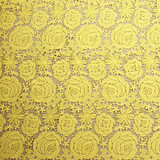 yellow african cord lace chemical soluble guipure fabric