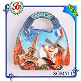 SGM511 wholesale eiffel tower souvenirs fridge magnet polyresin souvenir