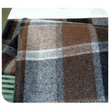 Woolen plaid fabric, twill fabric