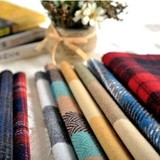 Woolen Plaid Fabric Used For Overcoat