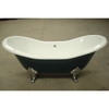 Classical Cast Iron Double Slipper Bathtub