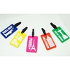 we supplied products to prevent luggage missing pvc luggage hang tag