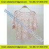 2014 winter ladies pink scoop neck ladies fashion short sleeve knitwear carchet sweater