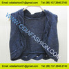 Ladies short sweater top fashion vest knitwear with sleeveless european fashion