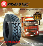 12R22.5 tubeless rasakutire lug pattern truck tire 22.5