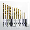"13PC Titanium Coated HSS Drill Bits Set for metal with 1/4"" Hex Shank Power tools Accessories"