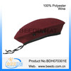 Polyester army beret hat bereto with leather bordure