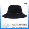 Fashion hat wool felt fedora black man hat