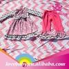 baby kids clothes cotton girl bib t shirt with ruffles shorts 2pcs/set summer children clothing 6M~12Y LBS5060901