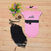 wholesale baby petti lace princess Romper with hair band