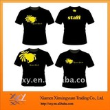 Promotion Design Tshirt With Different Logo Printig Size