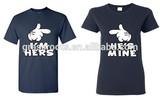 wholesale fashion love couple t-shirt custom cute couple t-shirt designs black couple t-shirt