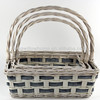s/3 willow basket with handle