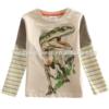factory outlet wholesale boys shirt dinosaur print boys long sleeve shirt