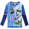 cute fashion frozen snowman baby boys long sleeve shirt contrast sleeve
