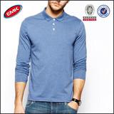 high quality plain long sleeve polo shirts