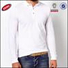 100% cotton plain white long sleeve polo shirts wholesale china