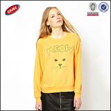 OEM bulk wholesale cat print crewneck women hoodies