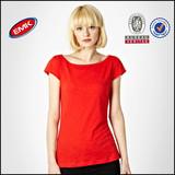 wholesale cheap ladies plain no brand t shirt china manufacturer