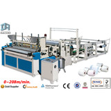 Point to Point Rewinding and Perforating Toilet Paper Machine