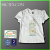 2014 new design hot sale kid summer clothes baby girl t shirt with cute print