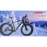 Advanced Hikarbon Full Carbon Fiber 26*16 / 18 /20'' Inch with 5.0 Width Tire Fat Bike Frame