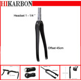 Advance Hikarbon Composite Bike Part Full Carbon Fiber 1-1/4'' Headset Road Racing Bike Fork Fit for Disc Brake