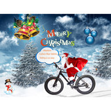 Snow bike Carbon fiber fatbike lighter frame and wider tire for easy riding