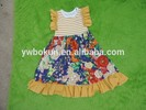 Persnickety Boutique customize girls Vintage flower dresses OEM 2~12 yeas old toddler girls gorgeous summer flower long dress