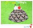 China Factory supplier Bulk wholesale 2015 Latest baby girls flower dress kids Korean vintage flower braces skirt summer dress