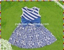 Latest summer persnickety boutique bulk wholesale toddler girls flower dress kids fancy sleeveless bowknot skirt girls dresses
