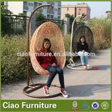 Outdoor patio rattan swing egg chair cheap hanging rattan egg chair