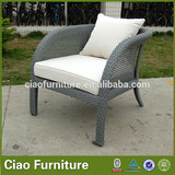 synthetic gray PE rattan wicker eames chaise lounge suite chair