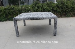 square long table patio table wicker table rattan table