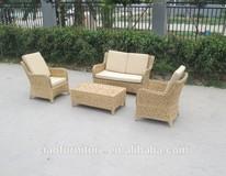 weather proof modern rattan leather sofa modern rattan furniture modern pe rattan sofa