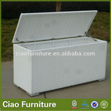 new style PE white rattan cushion box